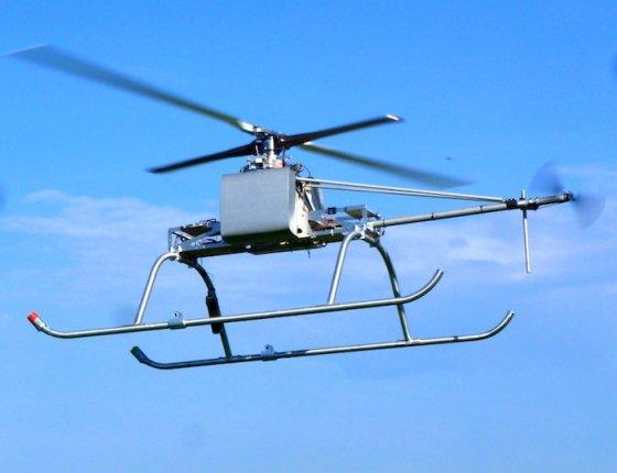 L'EyoCopter 200 au cours d'un vol d'essais. L'appareil a accumulé à ce jour plus de cent heures de fonctionnement. © EyoCopter